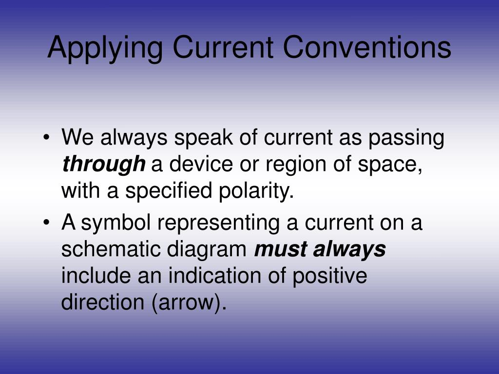 Applying Current Conventions