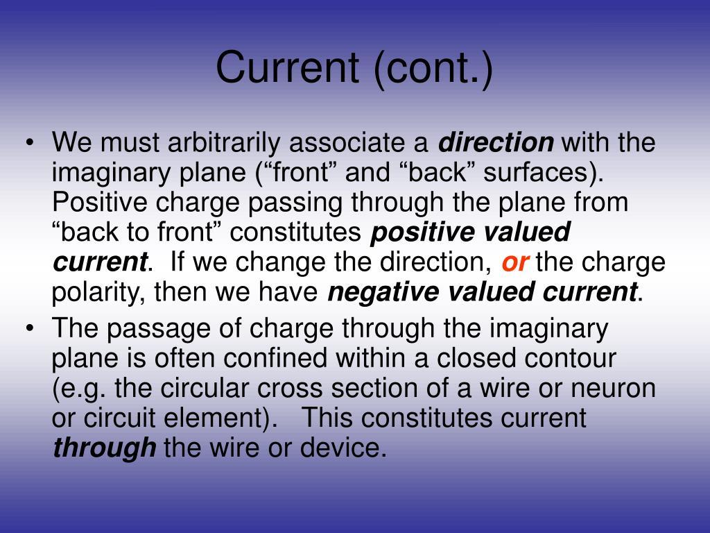 Current (cont.)