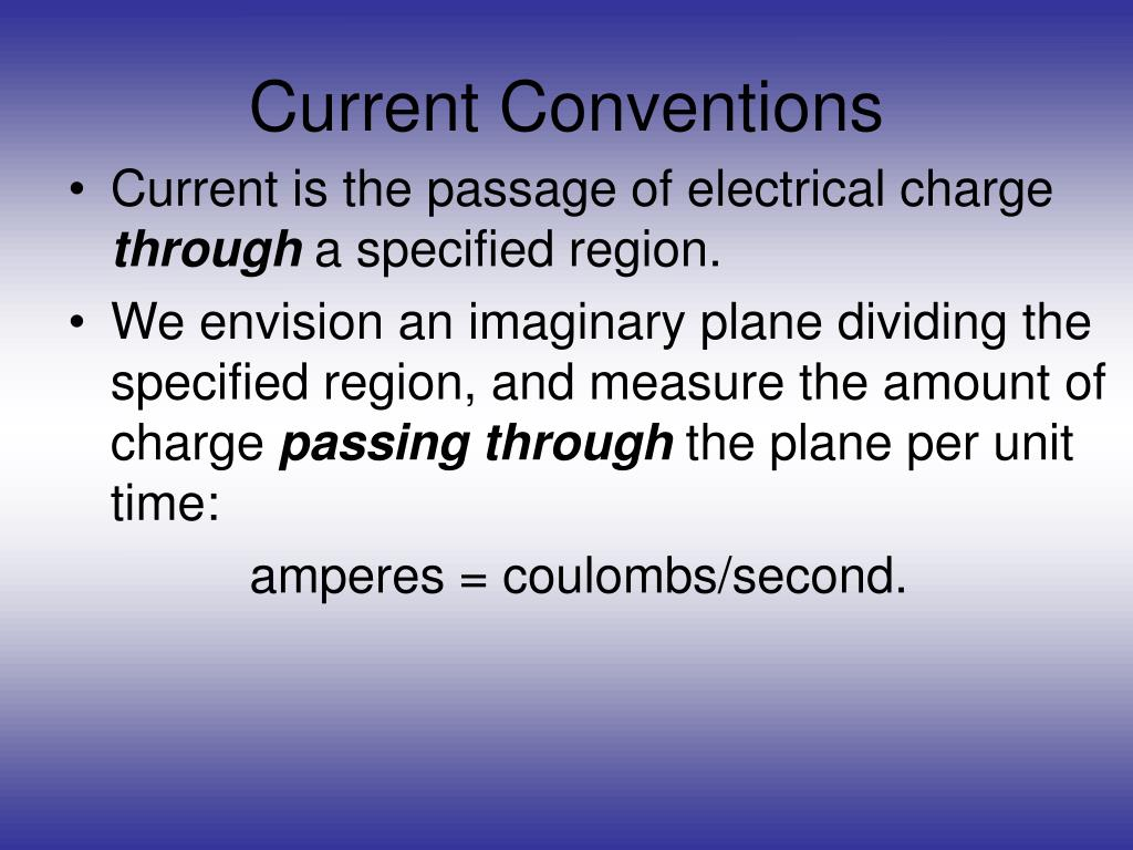 Current Conventions
