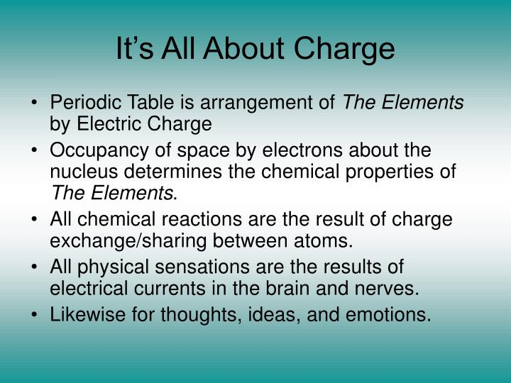 It s all about charge