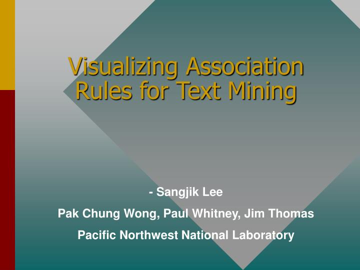 Visualizing association rules for text mining