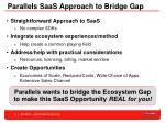 parallels saas approach to bridge gap