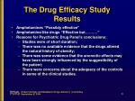 the drug efficacy study results