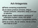 ach antagonists