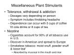 miscellaneous plant stimulants35