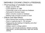 smokable cocaine crack freebase