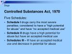 controlled substances act 19705