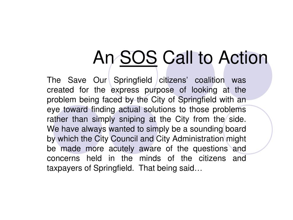 an sos call to action l.