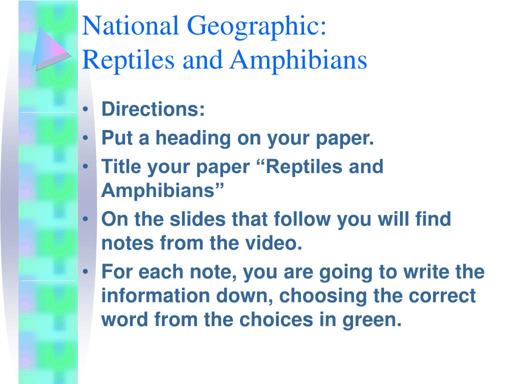 national geographic reptiles and amphibians l.