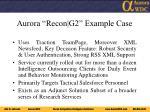 aurora recon g2 example case