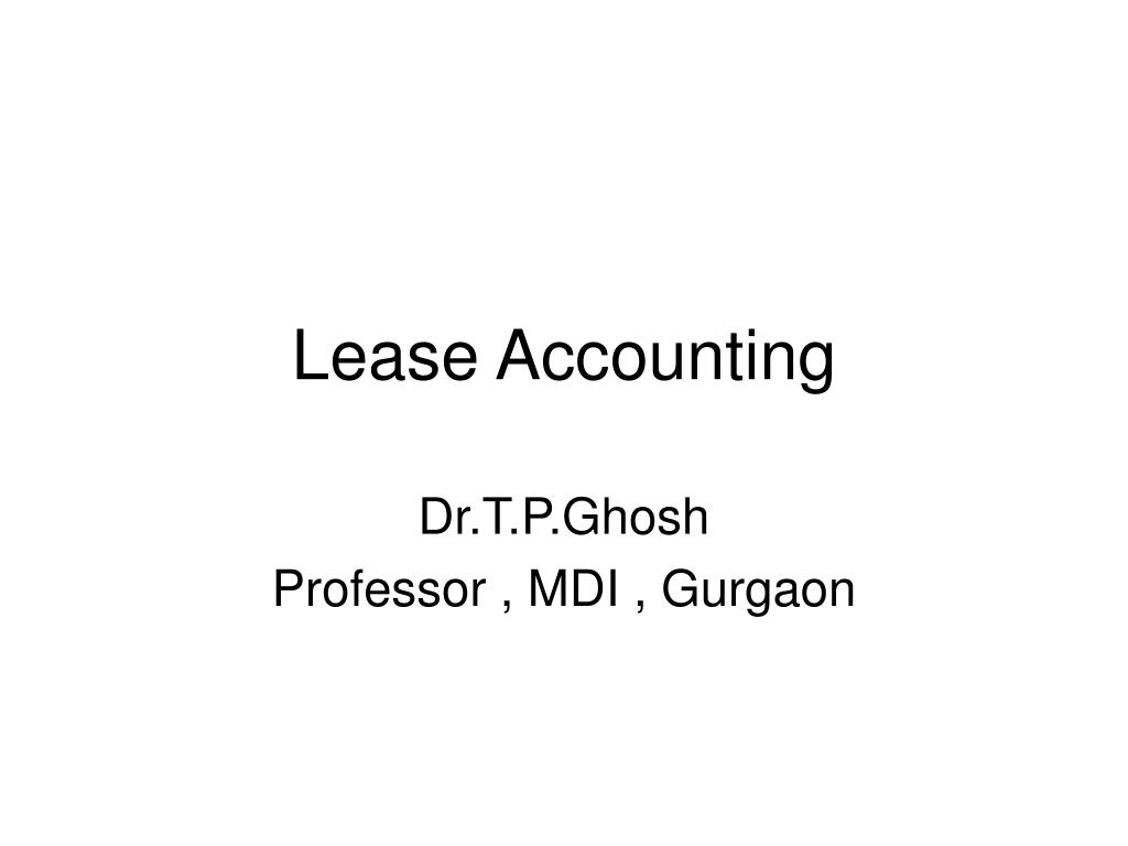 lease accounting l.