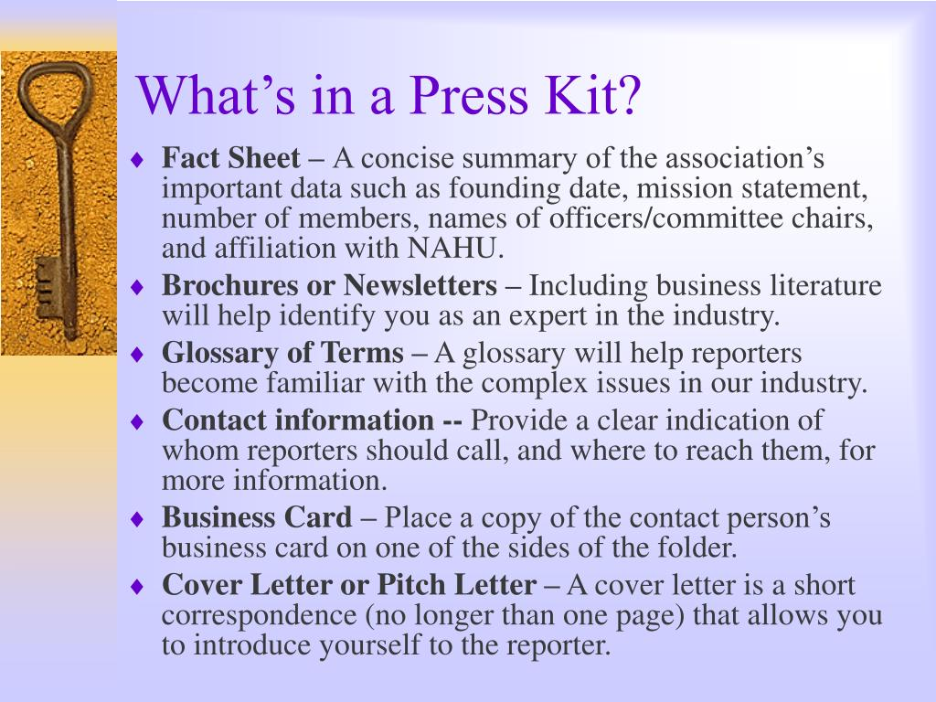 What's in a Press Kit?