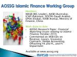 aossg islamic finance working group