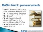 masb s islamic pronouncements