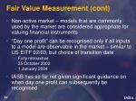 fair value measurement cont