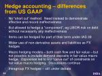 hedge accounting differences from us gaap