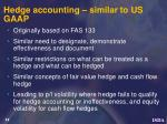 hedge accounting similar to us gaap