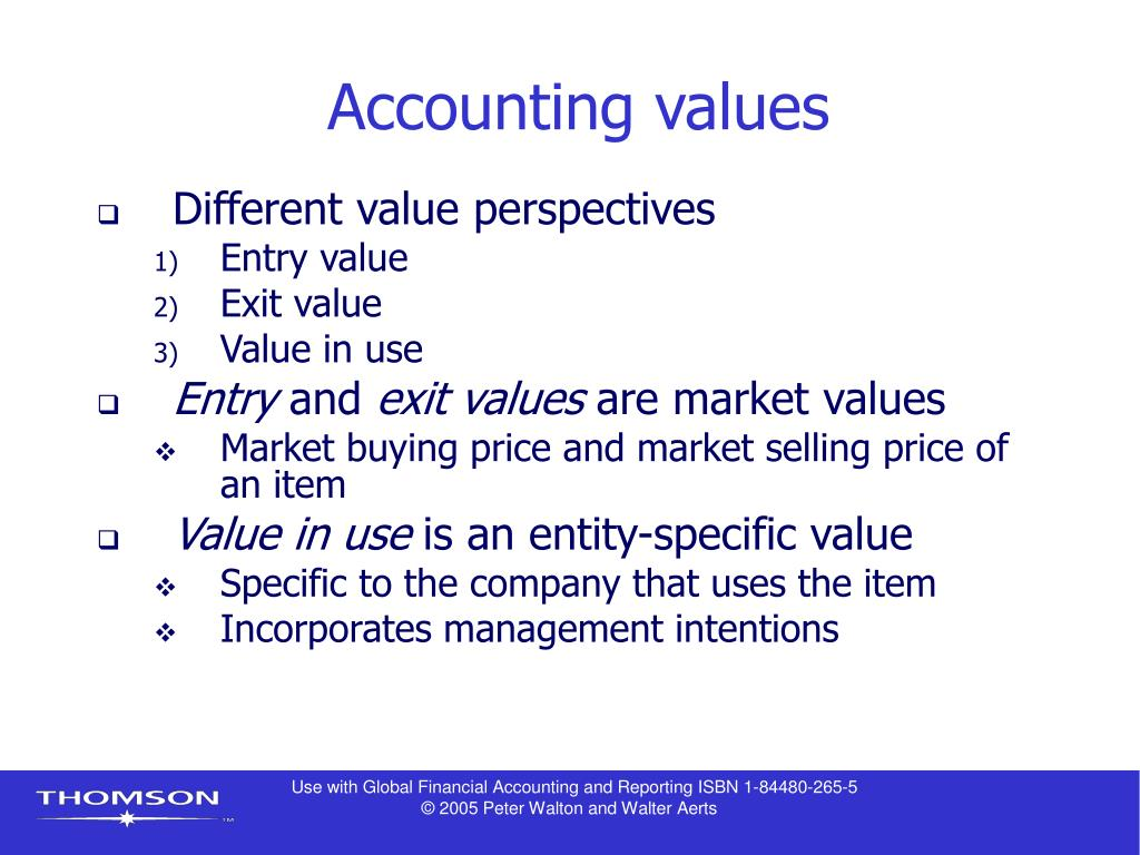 Accounting values