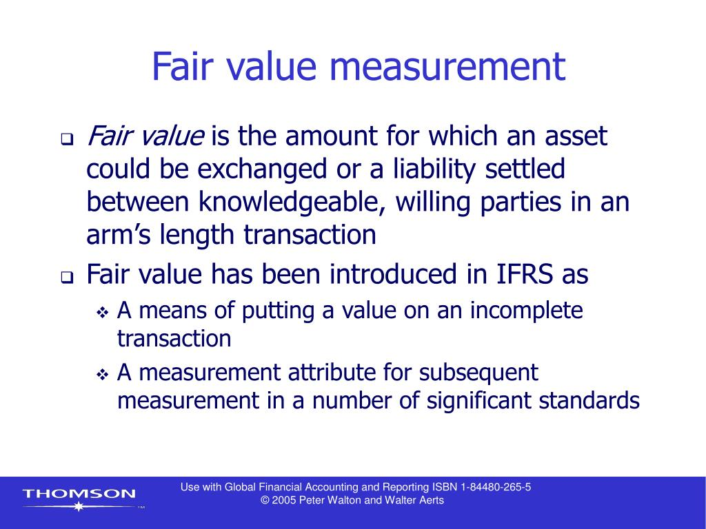 Fair value measurement