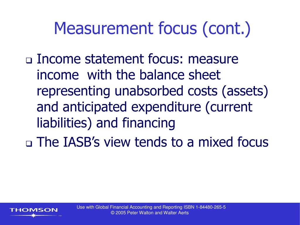 Measurement focus (cont.)