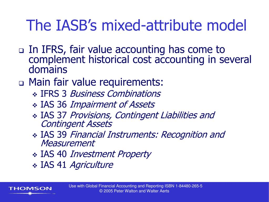 The IASB's mixed-attribute model