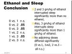 ethanol and sleep conclusion