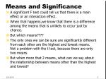 means and significance