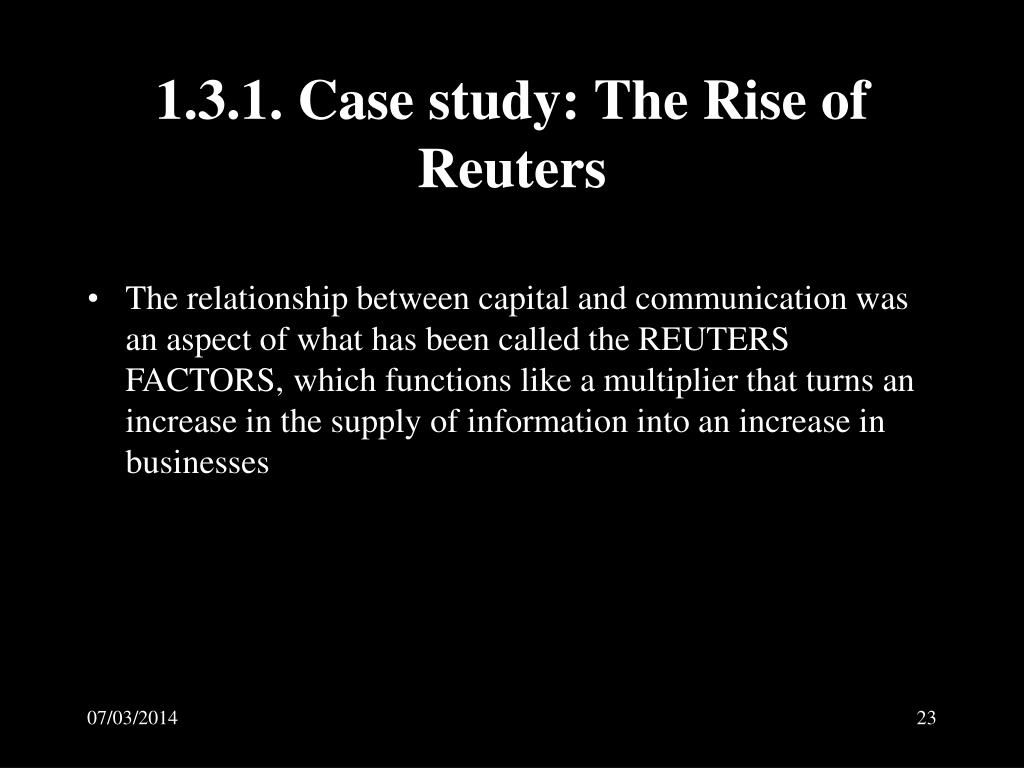1.3.1. Case study: The Rise of Reuters