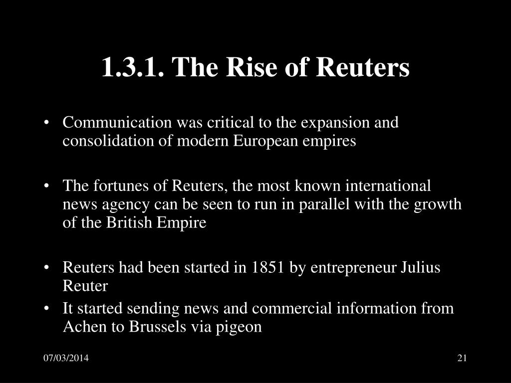 1.3.1. The Rise of Reuters