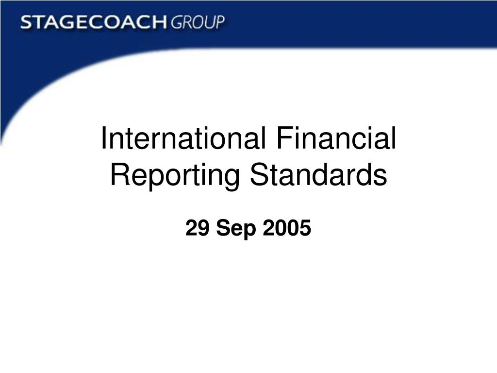 international financial reporting standards l.