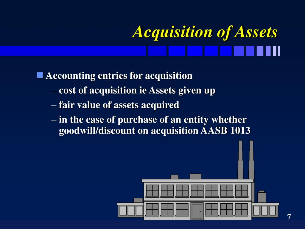 Acquisition of Assets