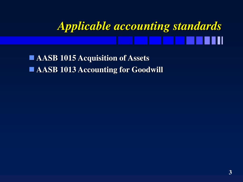 Applicable accounting standards