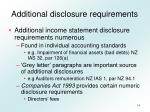 additional disclosure requirements