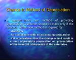 chance in method of depreciation