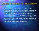 chance in method of depreciation11