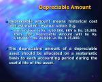 depreciable amount