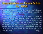 depreciation on items below rs 5000