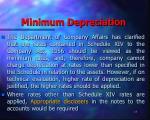 minimum depreciation