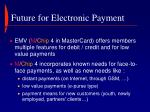 future for electronic payment