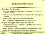 indirect exporting 1