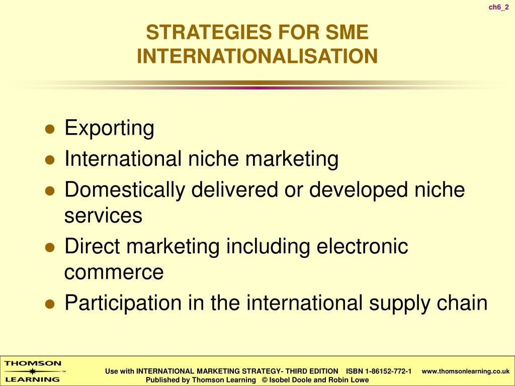 strategies for sme internationalisation l.