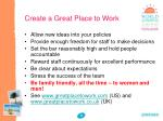 create a great place to work