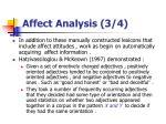 affect analysis 3 4
