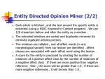 entity directed opinion miner 2 2