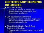 contemporary economic influences