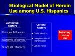 etiological model of heroin use among u s hispanics