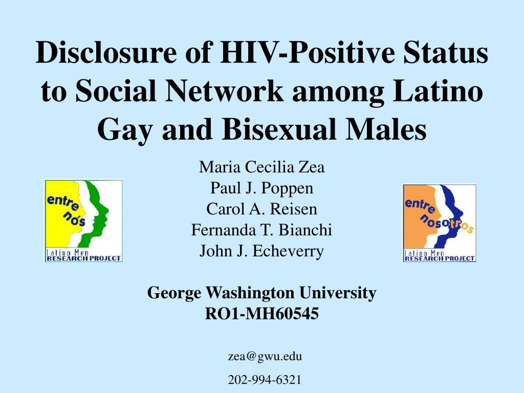 disclosure of hiv positive status to social network among latino gay and bisexual males l.