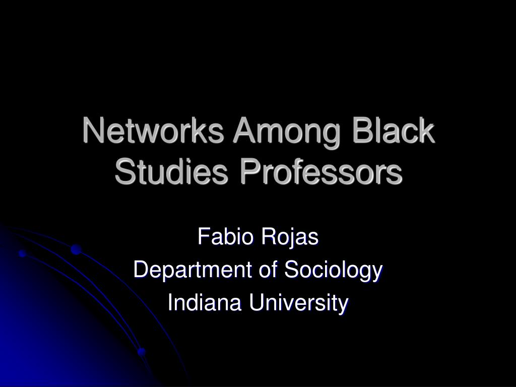 networks among black studies professors l.