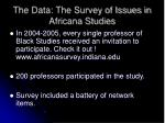 the data the survey of issues in africana studies