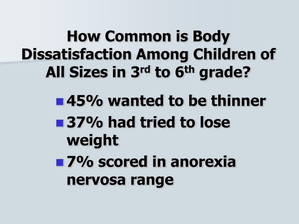 How Common is Body Dissatisfaction Among Children of